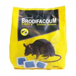 موش کش یونیکم اسلوونی مدل Brodifacoum pasta بسته بندی 200 گرمی